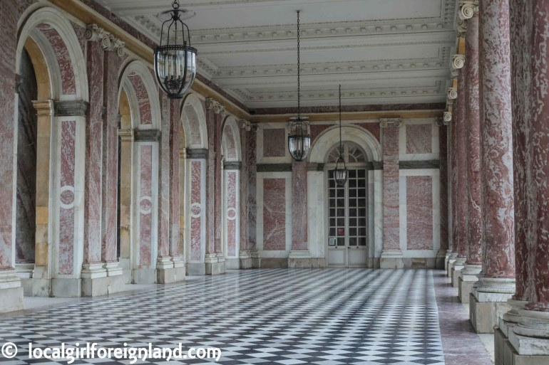 The Peristyle - Grand Trianon, the pink marble palace, Versailles. France