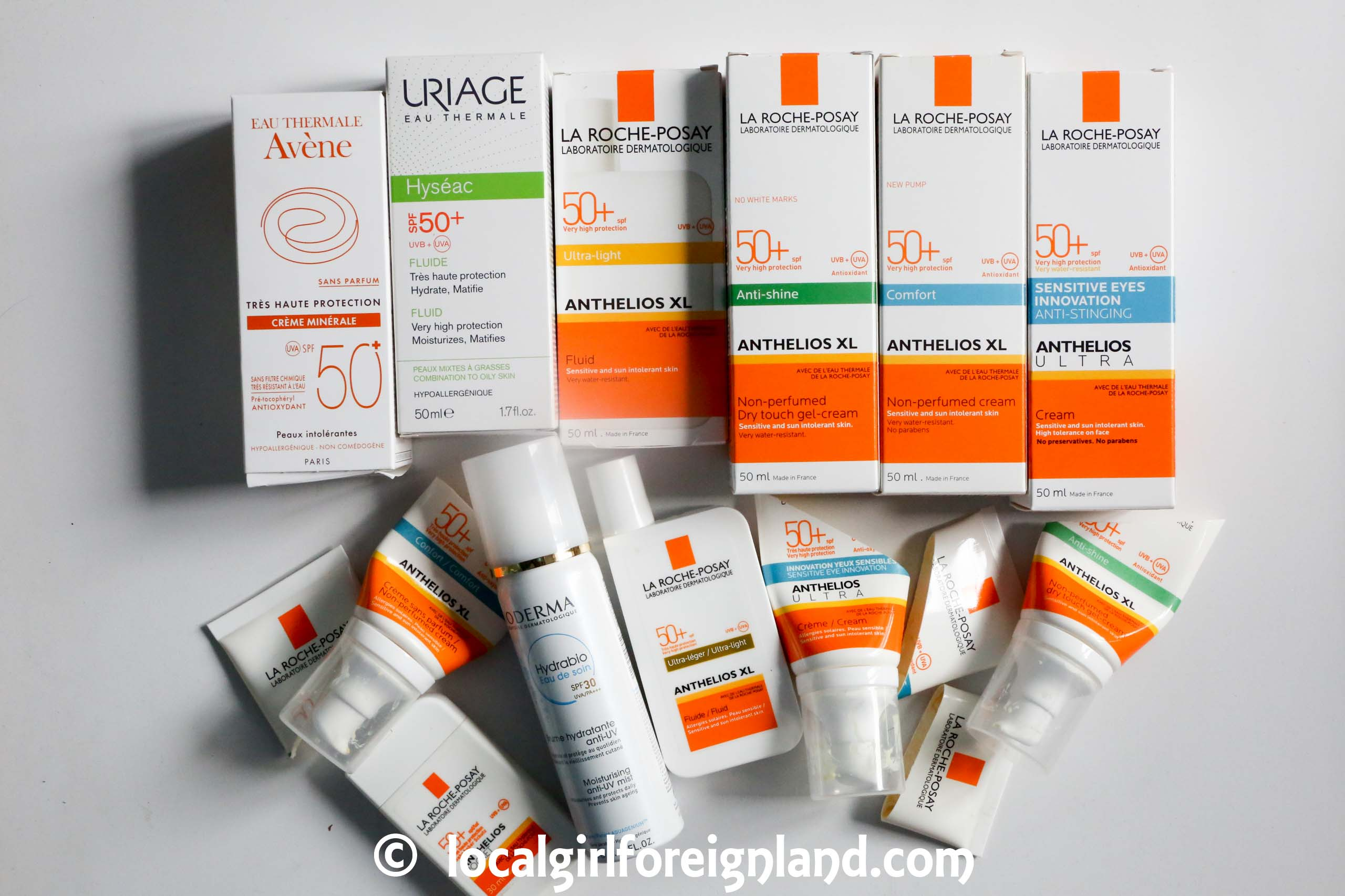 French pharmacy sunscreen empties