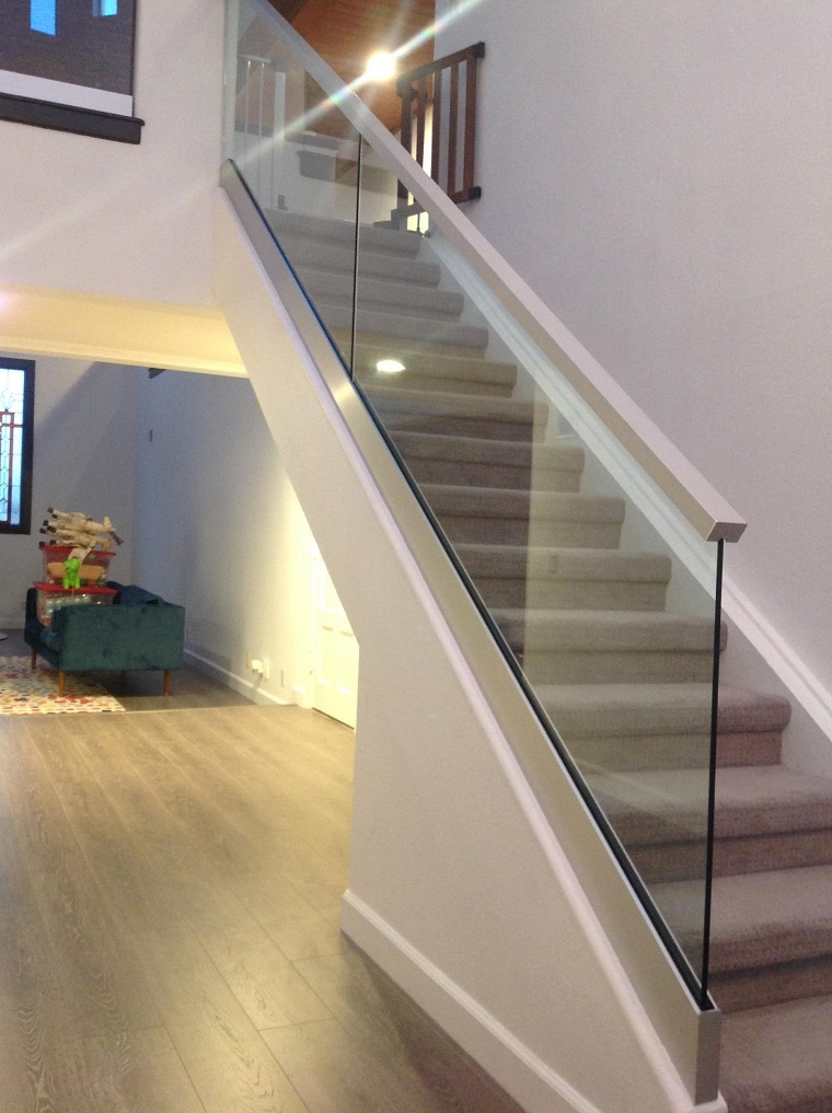 Glass Railings Orange County Local Glass Screen Irvine Ca | Glass Handrails For Stairs | Wood | Frameless | Outside | Standoff | Residential