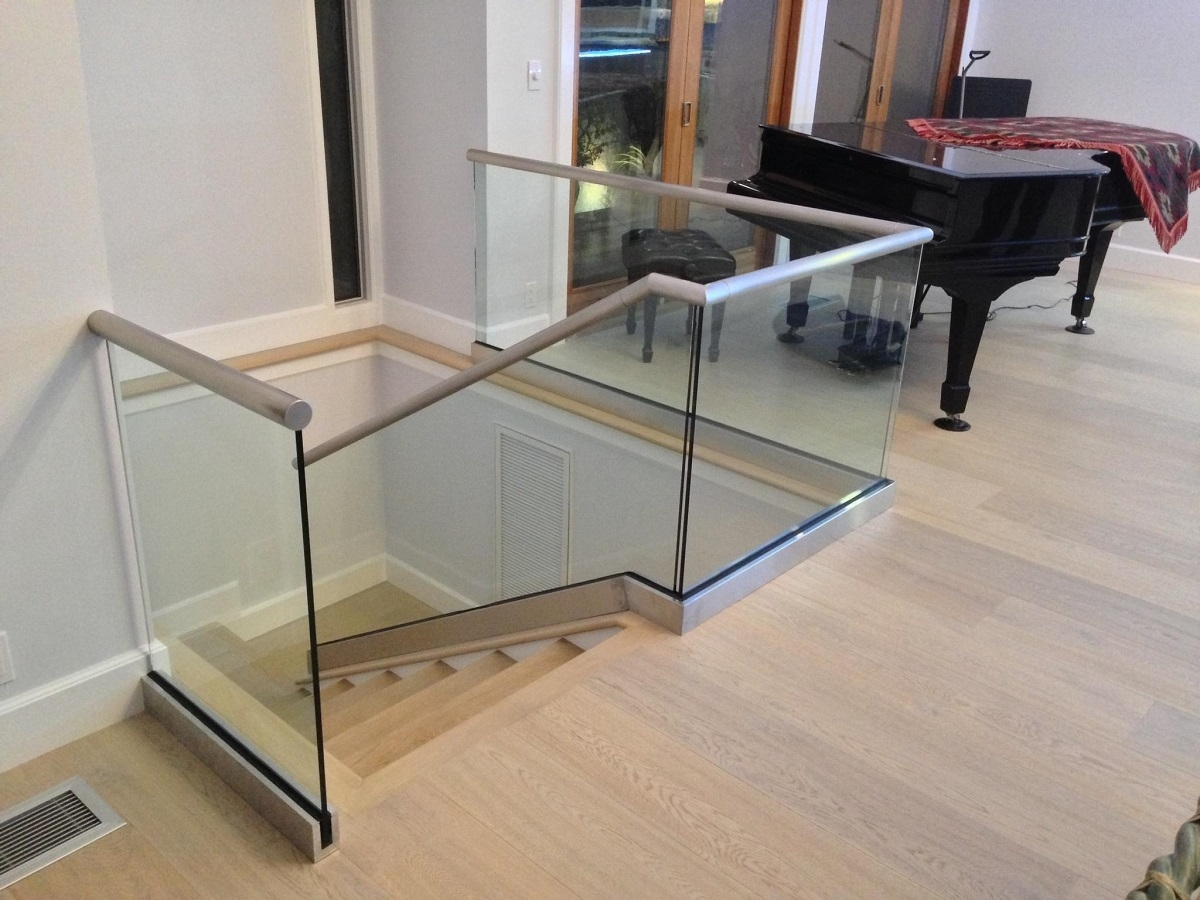 Glass Railings Orange County Local Glass Screen Irvine Ca   Glass Stair Railing Near Me   Interior   Railing Systems   Stainless Steel   Tempered Glass Panels   Iron