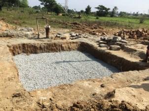 Constructing recharge pit- MGNREGA work underway. @ N. Kothooru