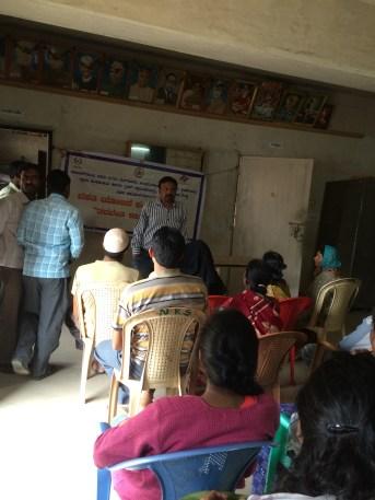 Basava Vasathi Yojana- Awareness camp by Housing Financial Corporation members at Nangali Gram Panchayat Office
