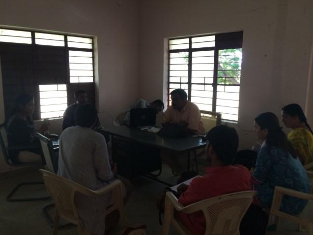 Meeting at Kolar ZP Office