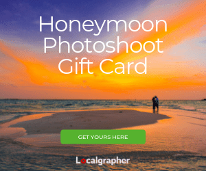 Honeymoon Photoshoot Gift Card