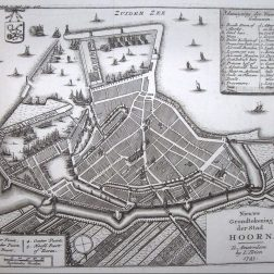 Kaart Hoorn 1743 | Rondleiding - Stadswandeling Hoorn
