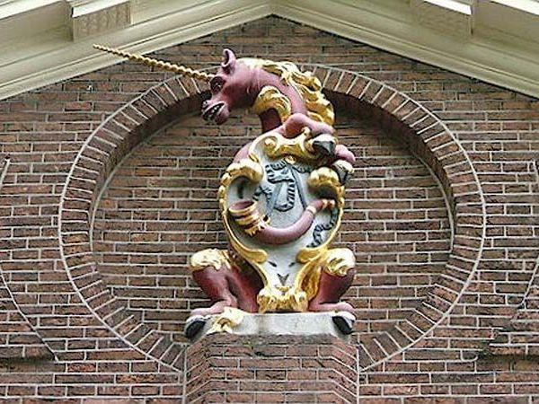 Eenhoorn, het symbool van de stad Hoorn