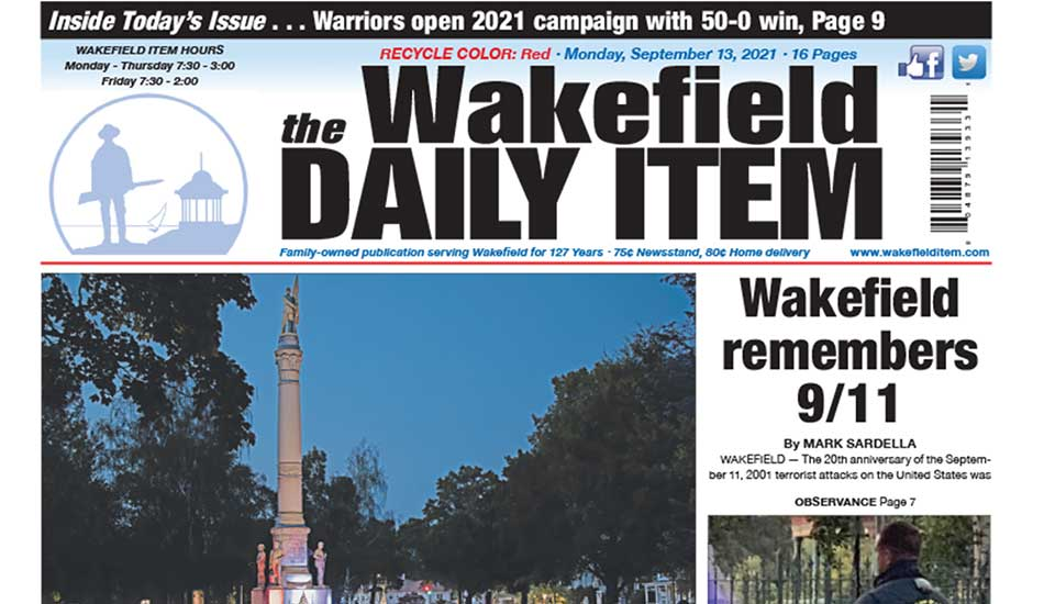 Front Page: September 13, 2021