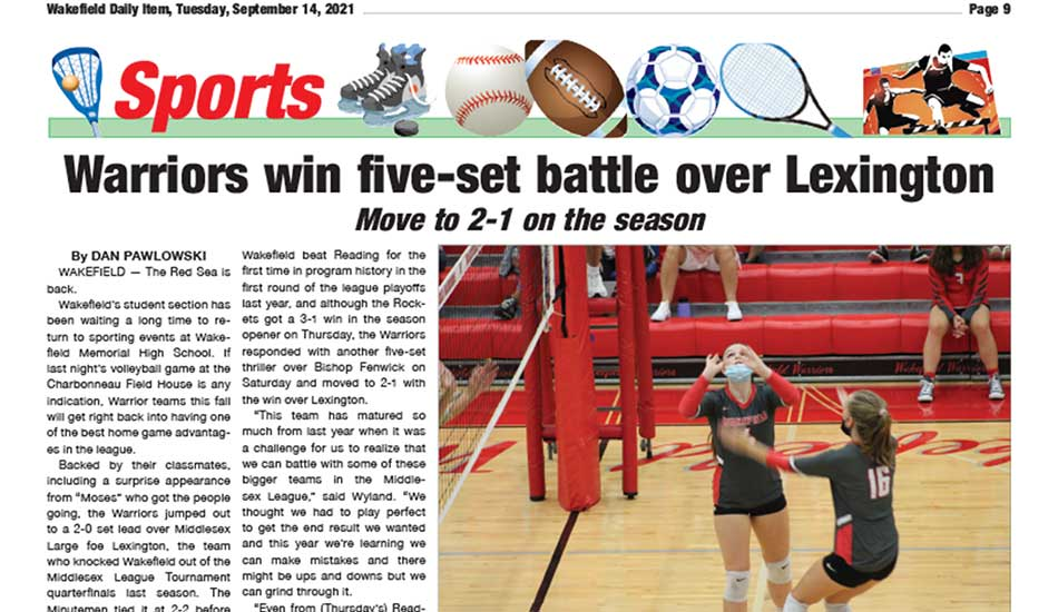 Sports Page: September 14, 2021