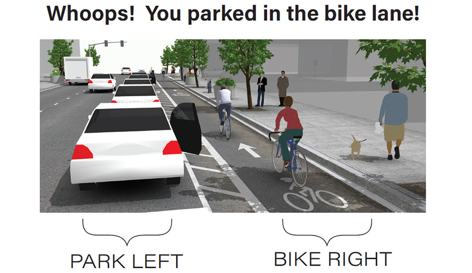 Bike lanes come to lower Main Street