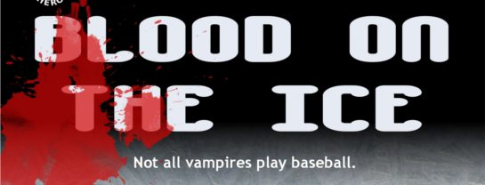 blood on the ice, ian thomas healy, evan harris, audiobook, narrator, vampire, hockey, humor, judaism