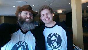 CEO Ian and Intern Patrick rocking the LHP Logo Shirts