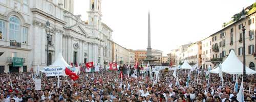 manifestazione contro il ddl intercettazioni- piazza Navona 1.7.2010