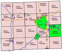 Remaining (green) and opted-out (red screen) communities in Washtenaw County as of October 30, 2012.  Dexter Village had not voted.