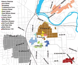 Ann Arbor's historic districts, courtesy AAPA