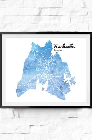 City Watercolor Maps