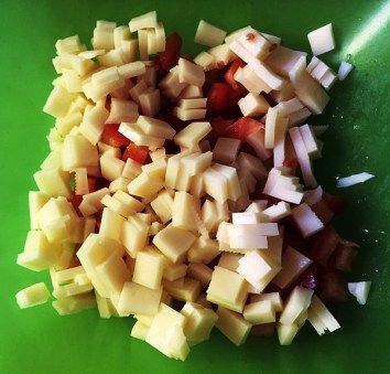 tomate y queso