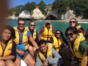 Boat tour to Cathedral Cove