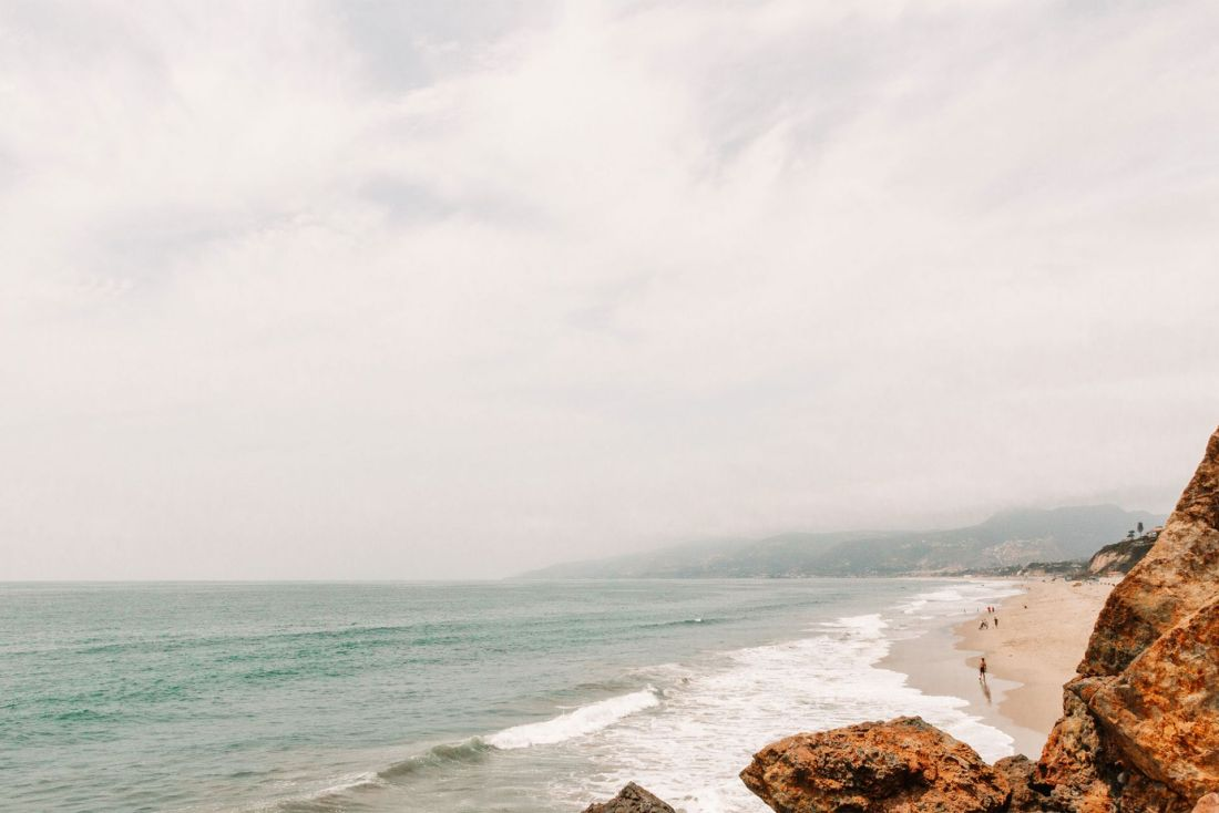 The long, sandy beach of Point Dume, Malibu California | as seen on the Local Love and Wanderlust Blog