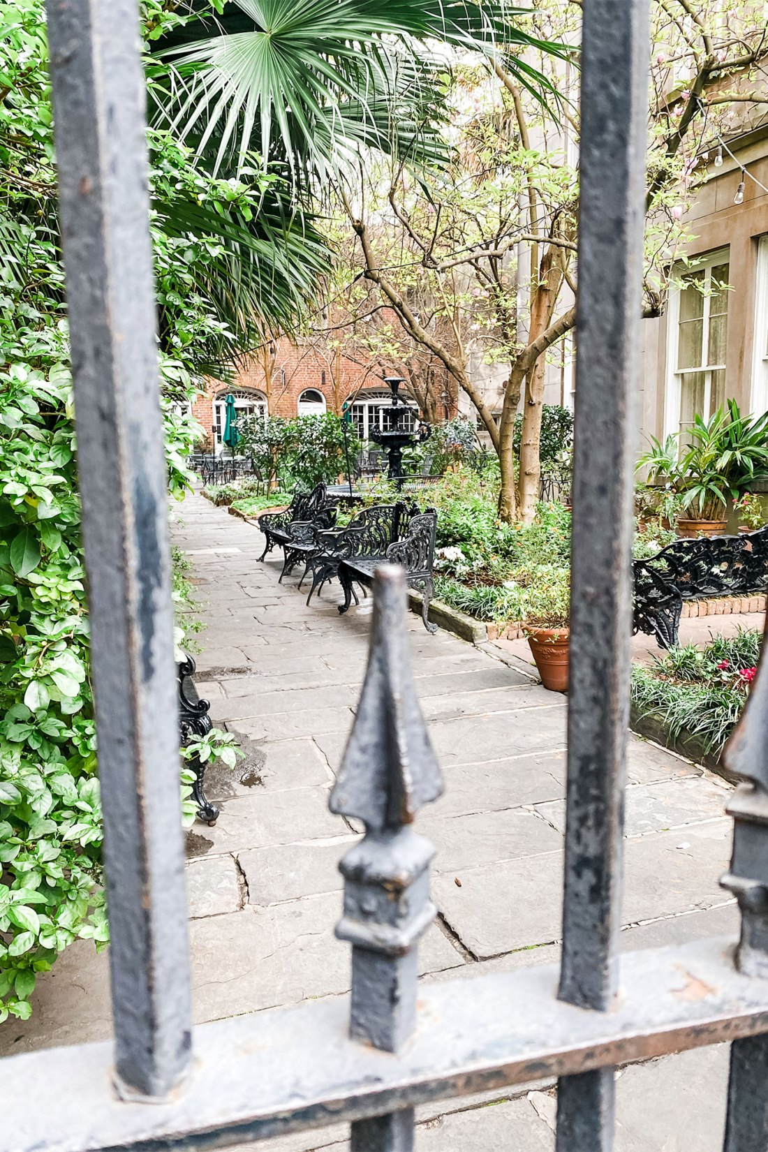 Fenced in courtyard