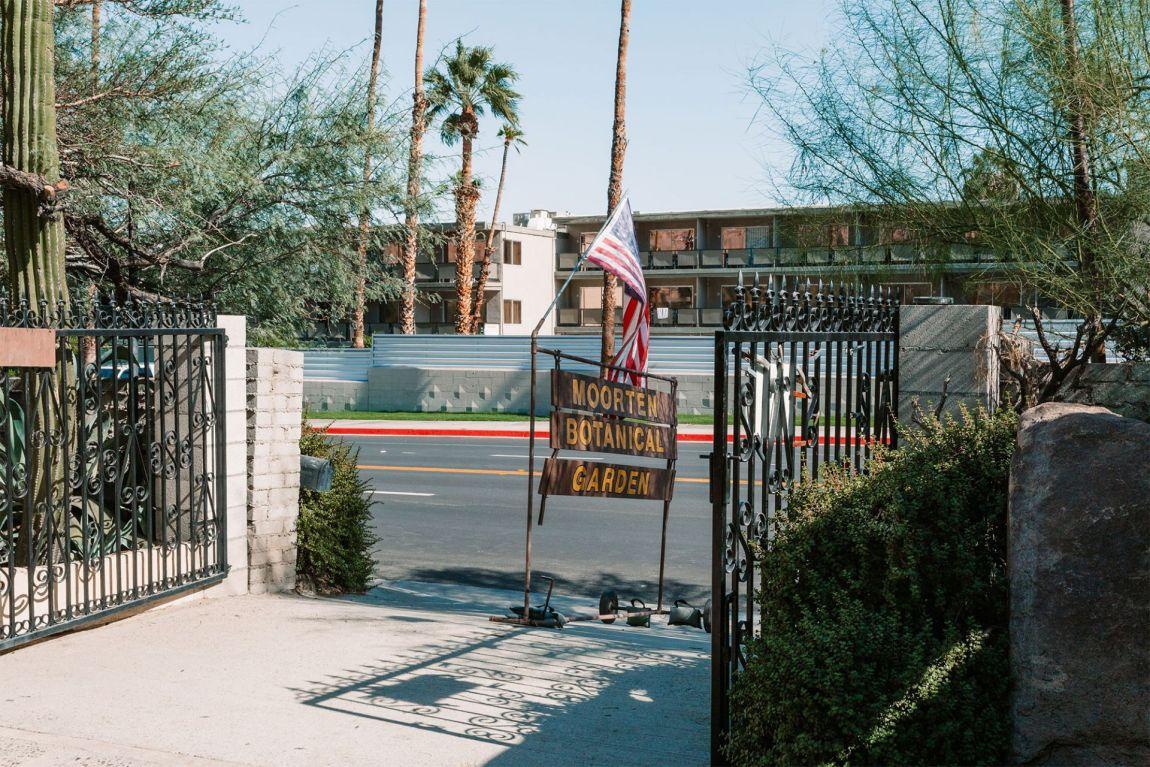 Moorten Botanical Gardens sign at entrance