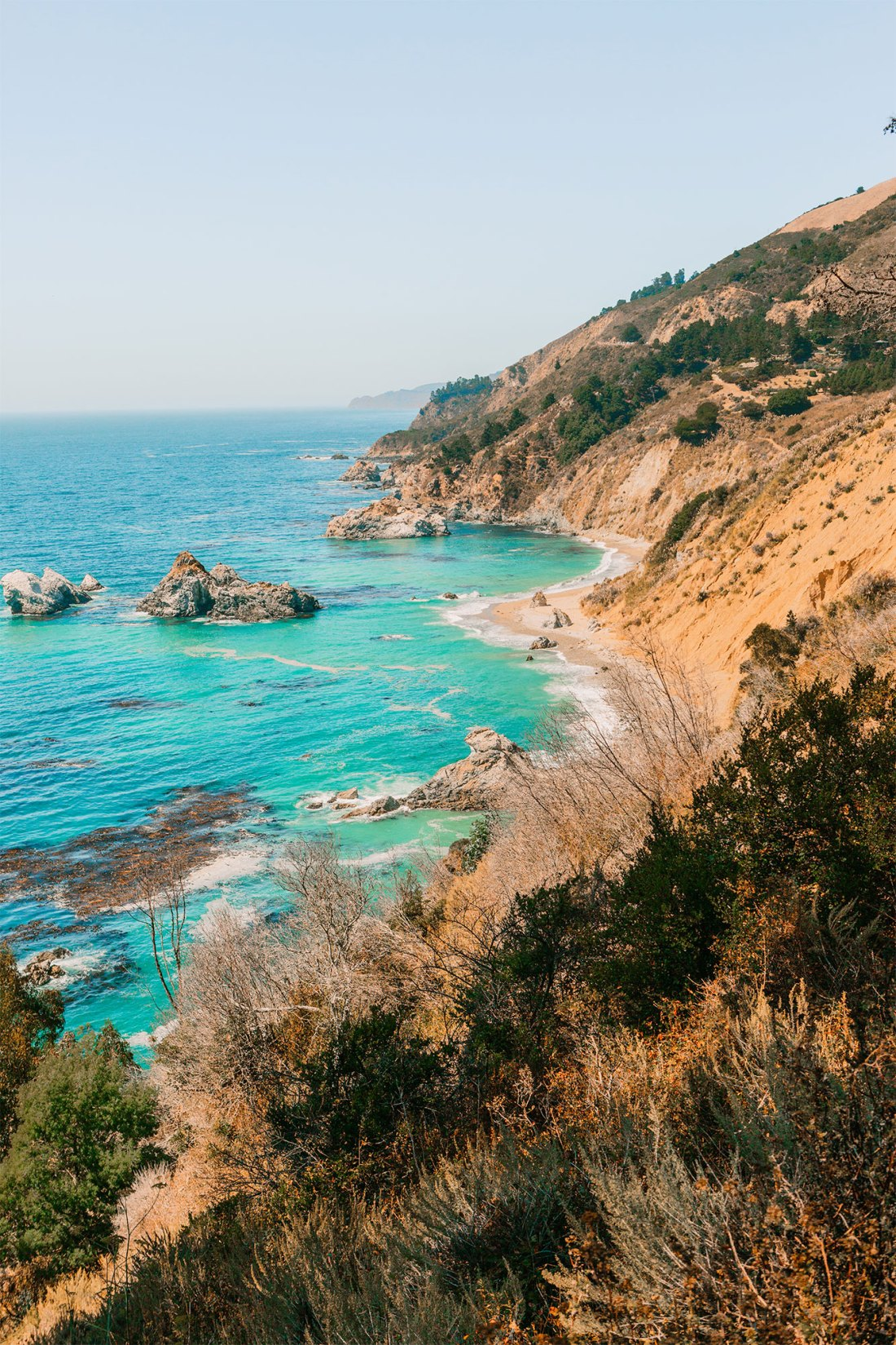 The other side of the famous McWay Falls in Big Sur, California | as seen on the Local Love and Wanderlust Blog