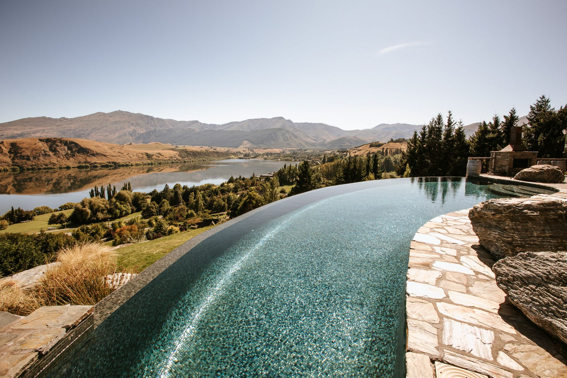 The Retreat pool and views