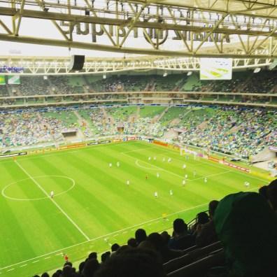Palmeiras game in Sao Paulo, Brazil