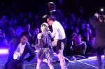 """Madonna dances with HK star Eason Chan on stage, """"kicks"""" his butt - 4"""
