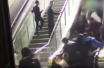 Crowded escalator in China shopping mall abruptly changes direction - 8