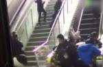 Crowded escalator in China shopping mall abruptly changes direction - 11