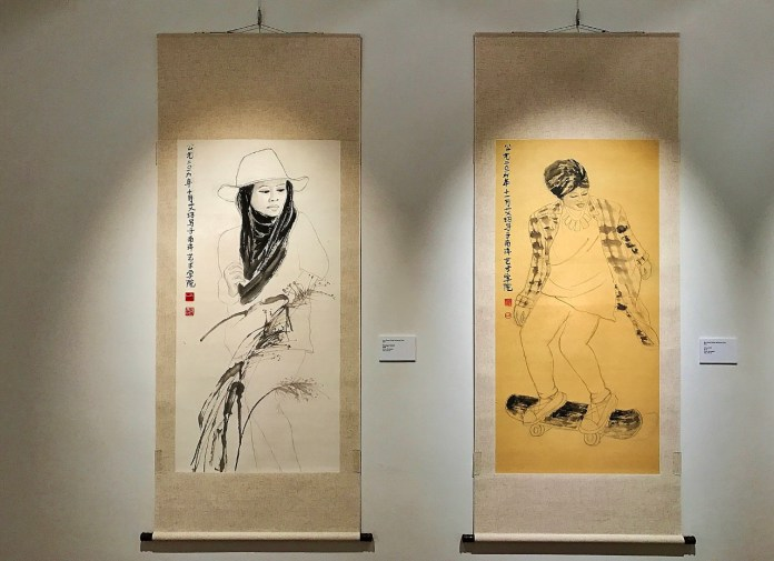 Cross boundary artists: She's into Chinese ink painting