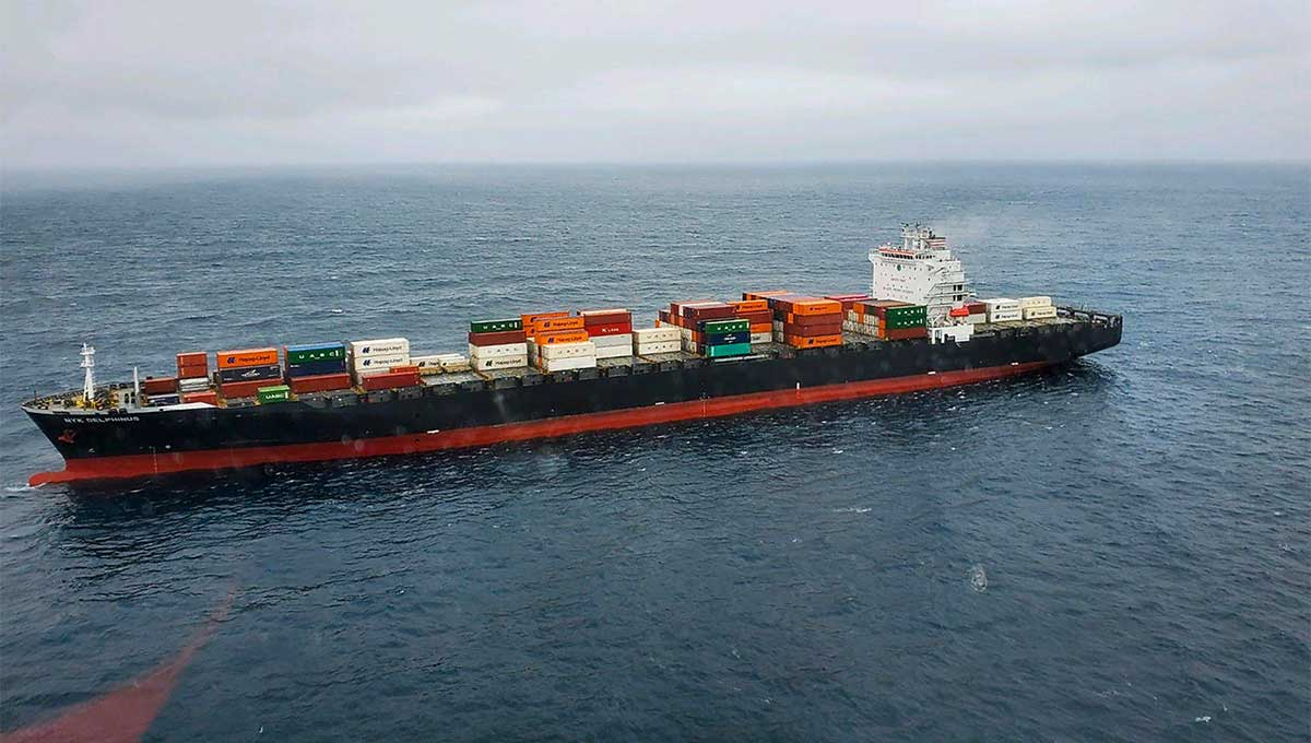 Disabled cargo ship gets tow to Oakland after catching fire outside Monterey