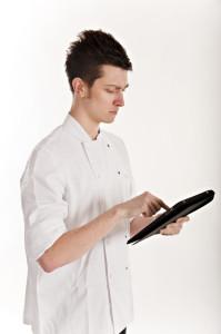 Chef Using an Ipad