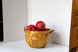 Apples in White Box