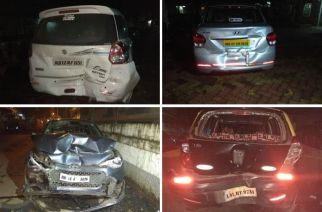 At least three people were injured in the Marine Drive accident (Picture Courtesy: Binu Varghese)