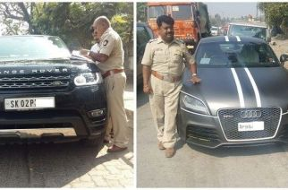 Danny Denzongpa's Range Rover (left) was among the high-end vehicles that were seized by RTO officials