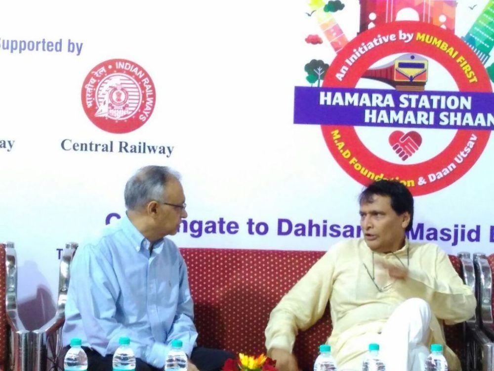 Railway Minister kicks off mega-beautification drive of 36 Mumbai suburban stations