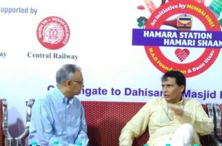 Railway Minister Suresh Prabhu with GM, Central Railway at the inauguration
