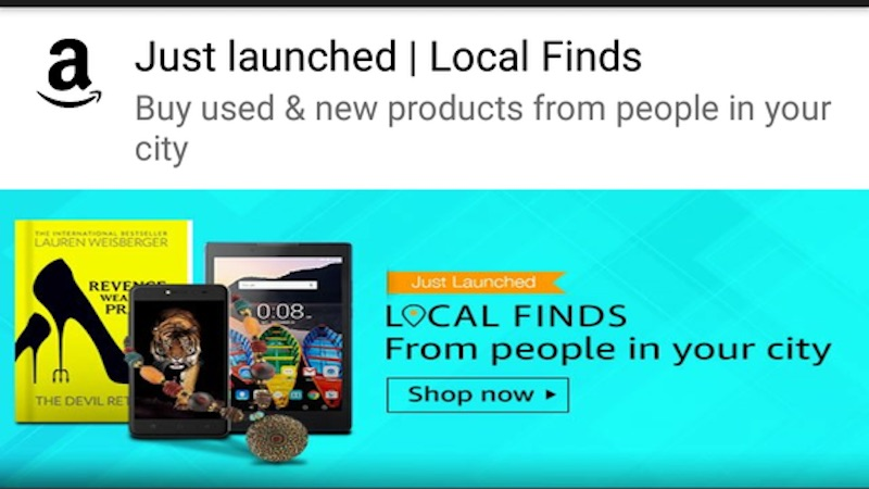 Amazon launches 'Local Finds' in Mumbai, to take on Olx and Quikr