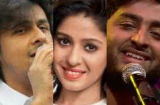 Sonu Nigam, Sunidhi Chauhan and Arjit Singh