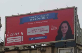 A hoarding advertising Sai Estate Consultants (Image for representation only, Courtesy: Global Advertisers)