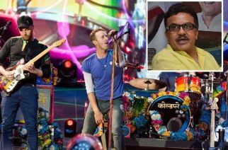 Coldplay performing at Wembley (inset: Congress Mumbai President Sanjay Nirupam)