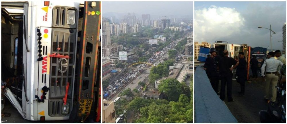 Container accident leads to 5-hour traffic snarl at Thane's Ghodbunder Road
