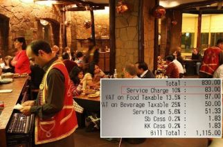 Customers will be able to choose how much service charge to pay and whether they want to pay it at all