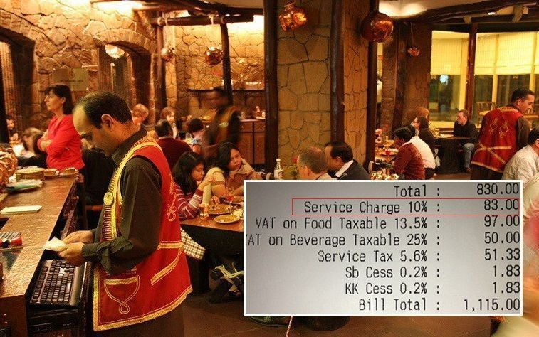 Customers can choose how much service charge they want to pay, whether to pay it at all