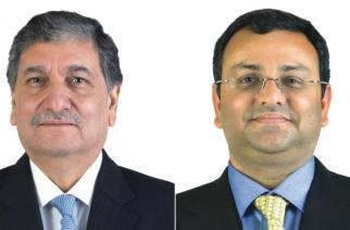Ishaat Hussain and Cyrus Mistry. Picture: TCS