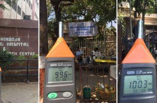 The noise levels were recorded by Awaaz Foundation outside 6 major Mumbai hospitals. Picture Courtesy: Sumaira Abdulali