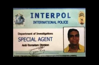 The ID card recovered from Chetan Shah's home.