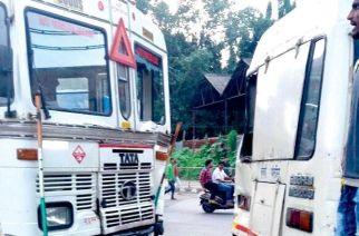 Tanker that crashed into Police van