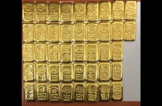 42 gold biscuits worth Rs 1.27 crore that were seized by DRI